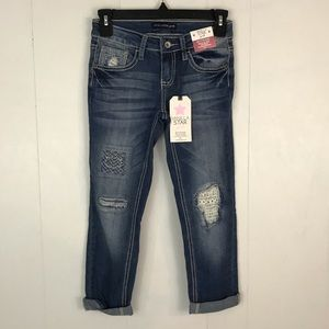 Vanilla Star Dark & Light Wash Skinny Jeans Size 7